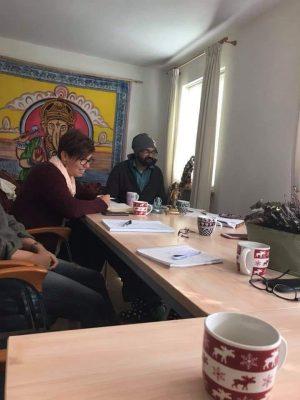 Dr. Shalesh Muli en Chantal Bakker van Ayurveda Wandelcoaching